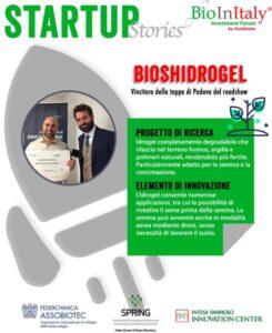 BioInItaly stops in Padova:  BiosHydrogel wins it!